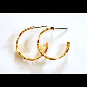 Vintage Jewelry - Gold Hoop Earrings Vintage
